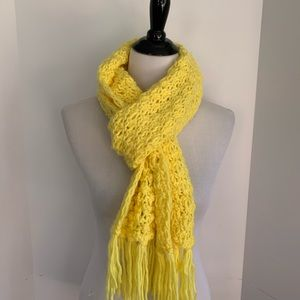 Super soft yellow scarf
